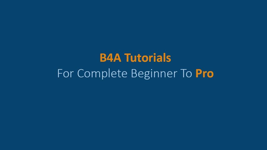 b4a tutorials pdf