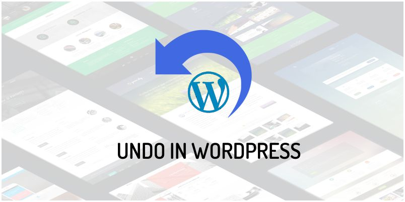 undo in wordpress